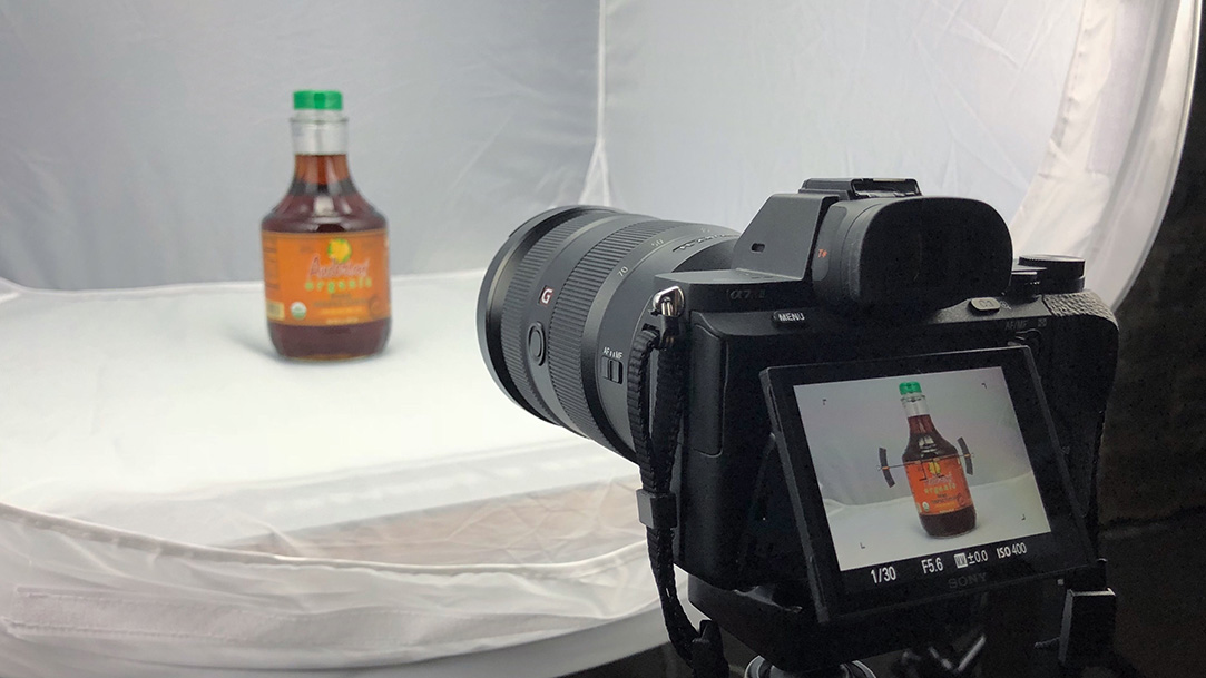Anderson's Pure Organic Maple Syrup photo shoot