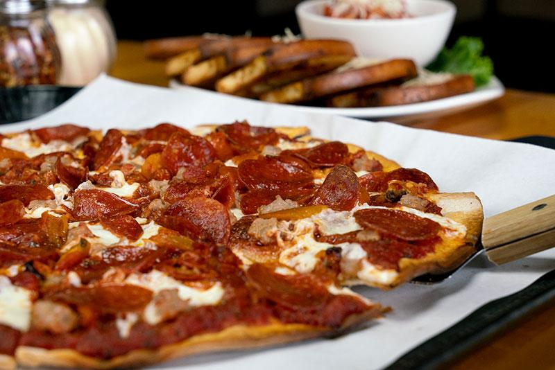 Fresh Mozzarella-Pepperoni Pizza